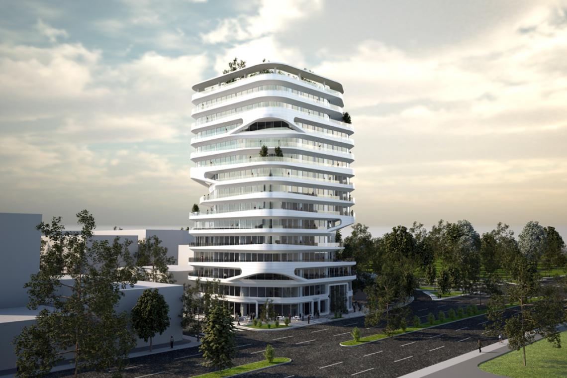 Świetlista wieża z nietuzinkową fasadą. To projekt L+A Arquitectos