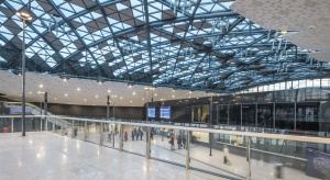 Dworzec Łódź Fabryczna z wyjątkowymi przeszkleniami