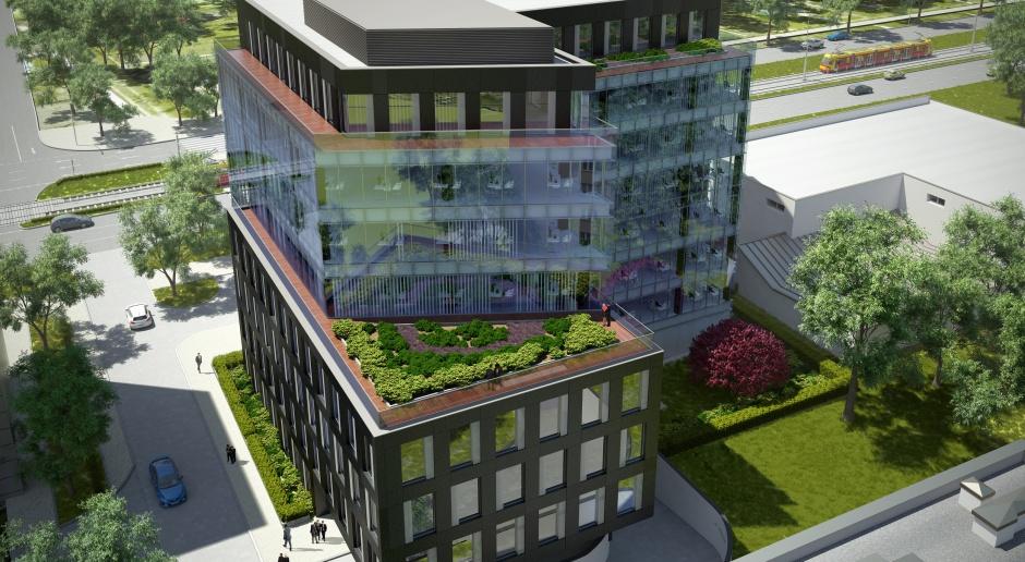 Zieleń i nowoczesność w biurowcu od Kuryłowicz & Associates