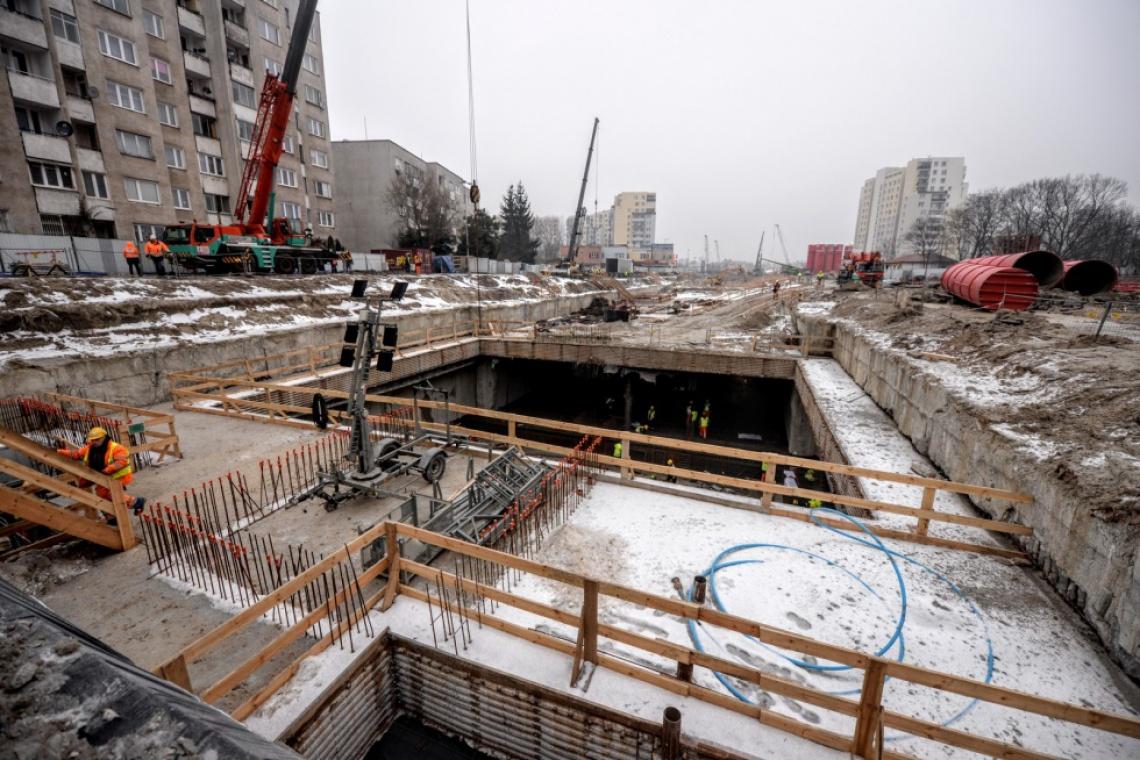 Trwa budowa stacji metra na Targówku