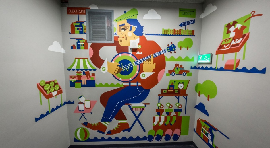 Murale ozdobiły wnętrze siedziby Deloitte
