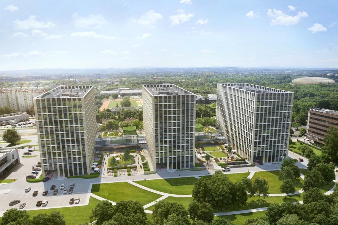Innowacyjny biurowiec w Krakowie przyspiesza. To projekt PRC Architekci