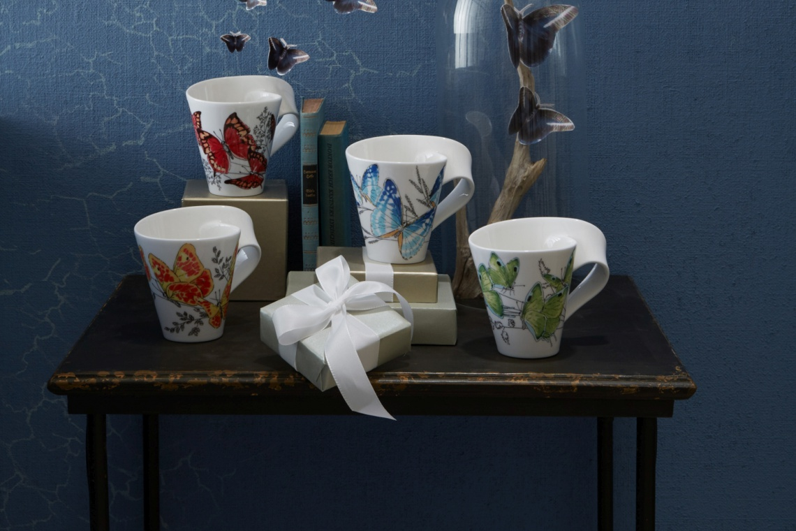 Falista porcelana z wyjątkowymi motylami