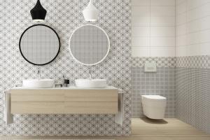 Duet czerni i bieli w łazience