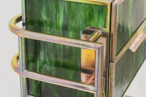 Designerska konsola z lanego szkła