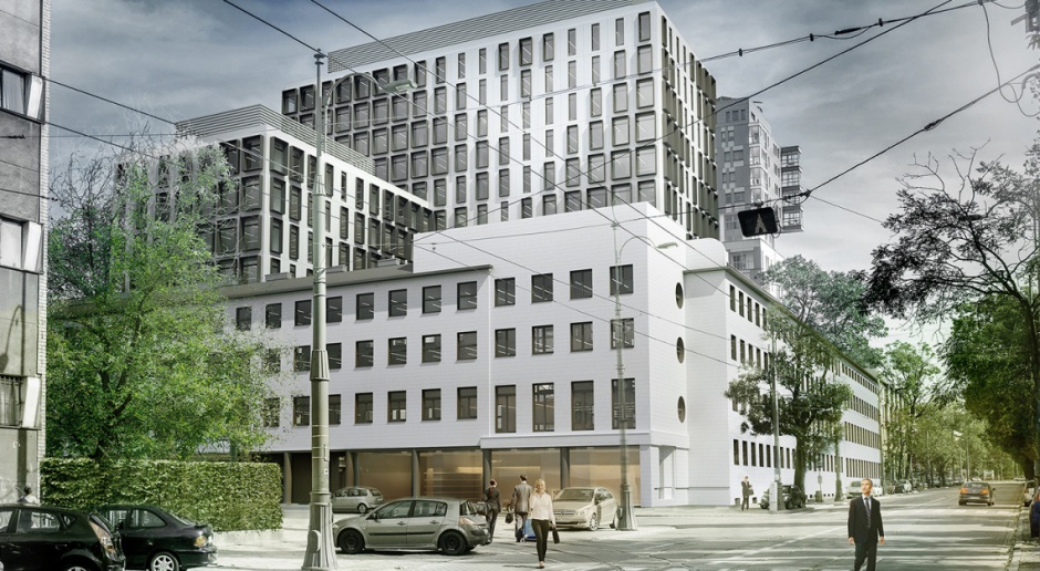 Biurowiec Wola Retro pnie się w górę. To projekt APA Kuryłowicz & Associates
