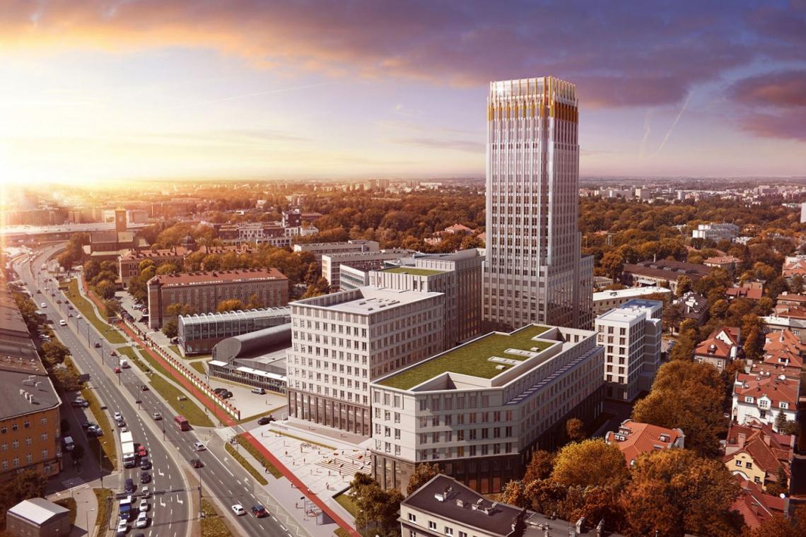 Unity Tower będzie najwyższym budynkiem w Krakowie. Jest wykonawca
