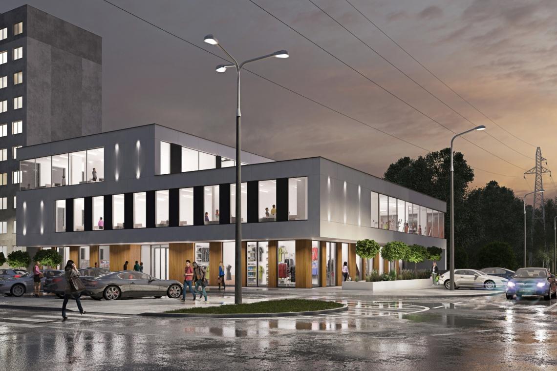 Nowy obiekt handlowy pod Warszawą według projektu Beczak & Beczak Architekci