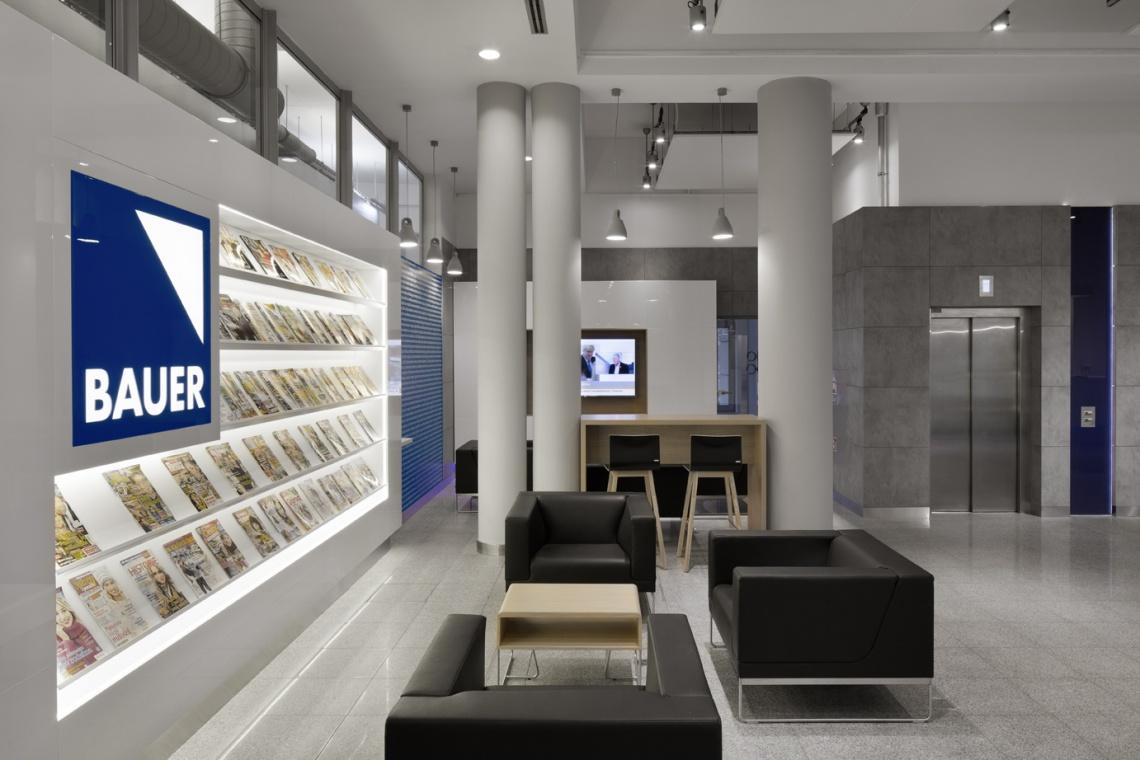 Designerska strefa wejściowa w Bauer Media