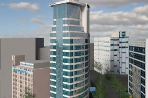 Hotelowa wieża pełna designu