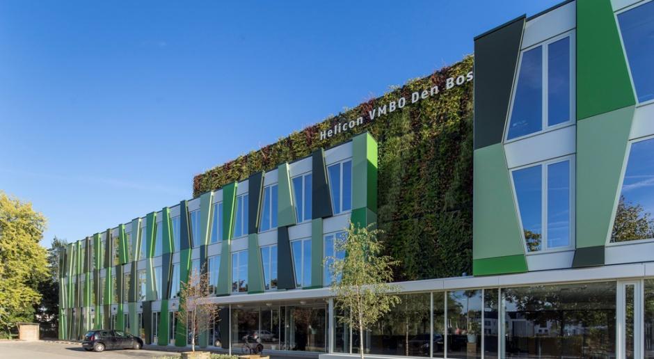 Ta szkoła ma fasadę niczym bambusowy gąszcz