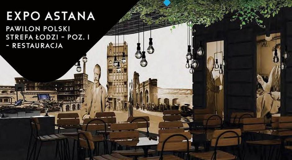 Replika bufetu pubu Łódź Kaliska na wystawie Expo w Astanie