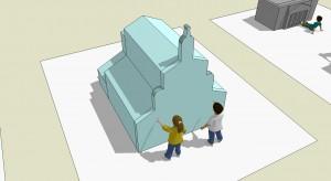 """Demolka kontrolowana, czyli wystawa dla dzieci """"Architektura w ruchu"""""""