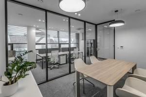 Biuro z widokiem na biznes