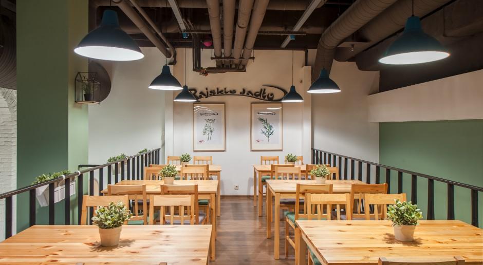Nowe wnętrze bistro Rajskie Jadło. To miejsce pobudzające apetyt