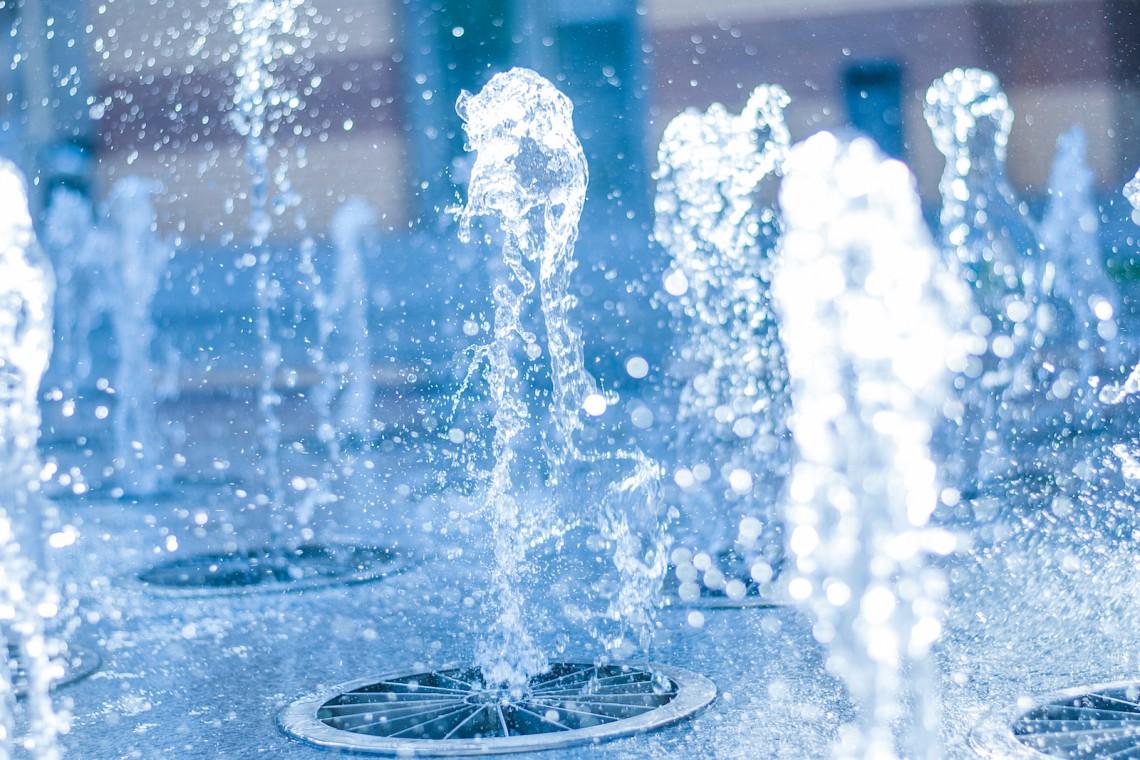 Multimedialne fontanny w Parku Szymańskiego na Woli