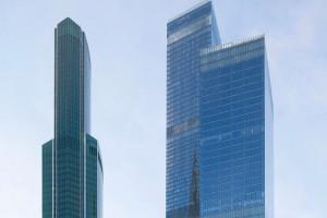 Marmury i hologramy - zobacz wnętrze eleganckiego moskiewskiego biurowca