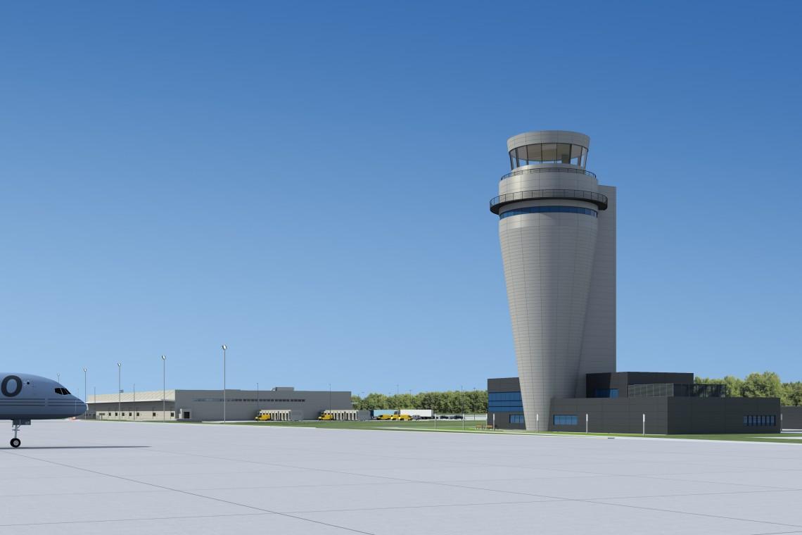 Budowa wieży kontroli lotów w Pyrzowicach