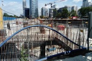Budowa The Warsaw Hub od środka - fotorelacja