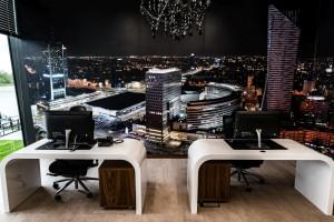 Designerskie biuro i showroom takich marek jak Ferrari, Lamborghini i Porsche