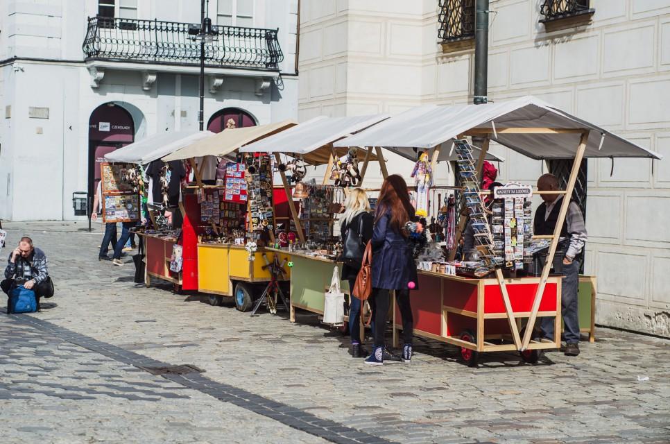 Niezwykłe stragany na Starym Rynku w Poznaniu