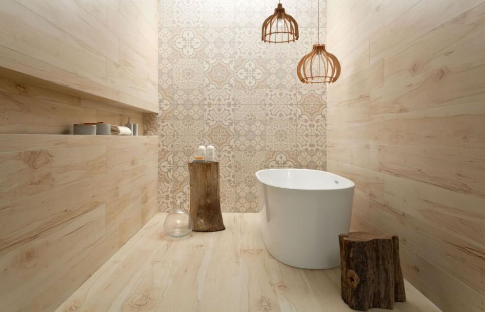Płytki ceramiczne niczym drewniane deski - w sam raz do łazienki