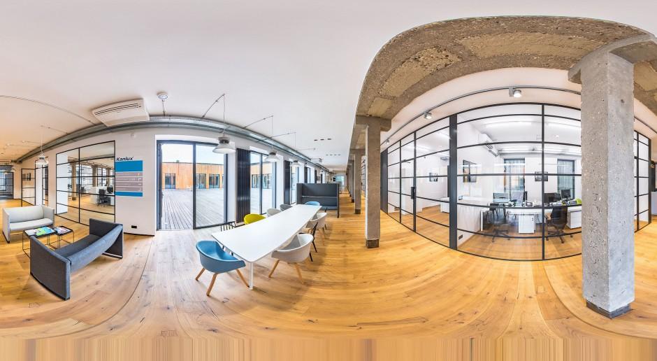 Industrialna przestrzeń centrum TechPark. Design wart docenienia!