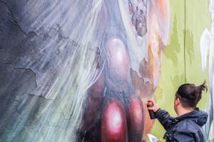 Niezwykły mural w Łodzi. Tym razem przedstawiający słowiańską boginię