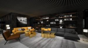 Intrygujący design lobby biurowca D48. To projekt Robert Majkut Design