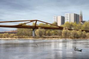 Pierwszy pieszo-rowerowy most przez Wisłę wybrany. Zwyciężyła pracownia z Warszawy