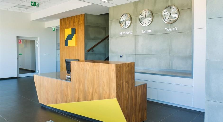 Przestrzenna wizytówka - wnętrze biurowe dla europejskiego producenta mebli