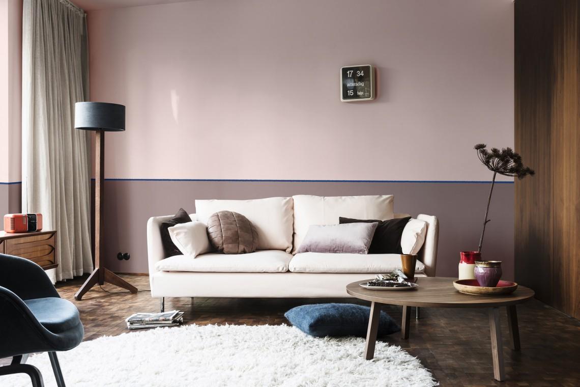 Idealny kolor do stref relaksu to... różowy a brąz
