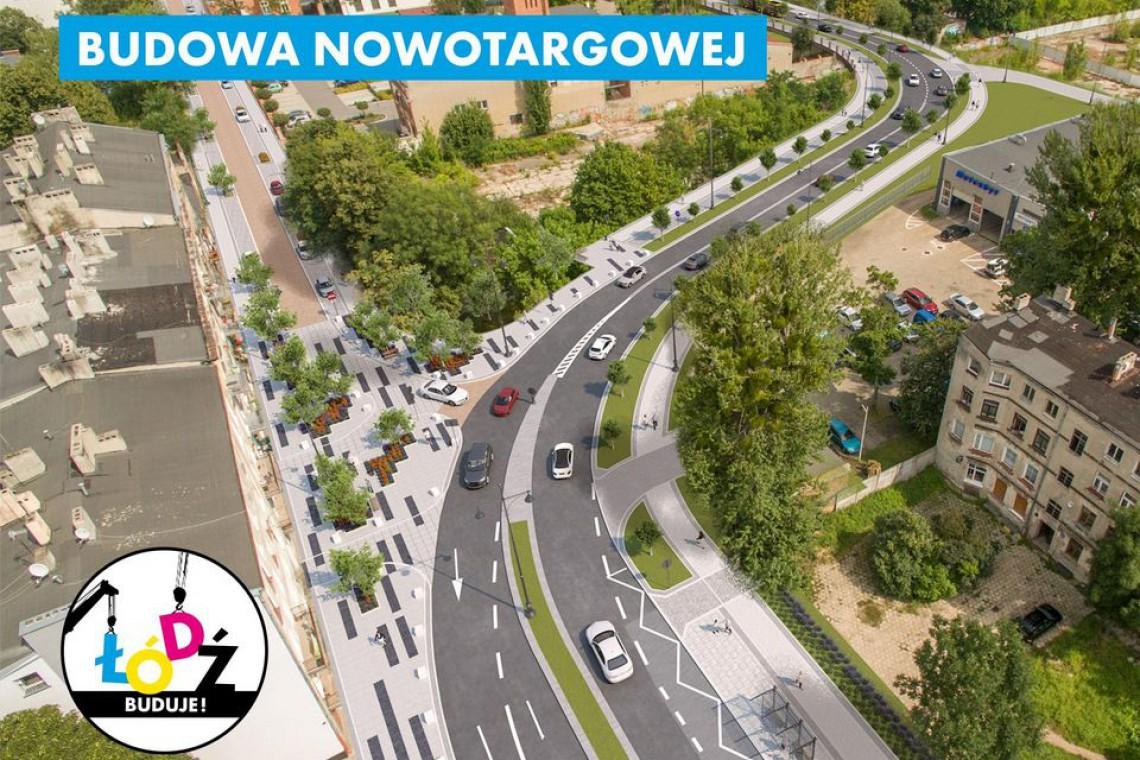 Łódź: Nowotargowa będzie węższa i zielona. Na Targowej powstanie woonerf