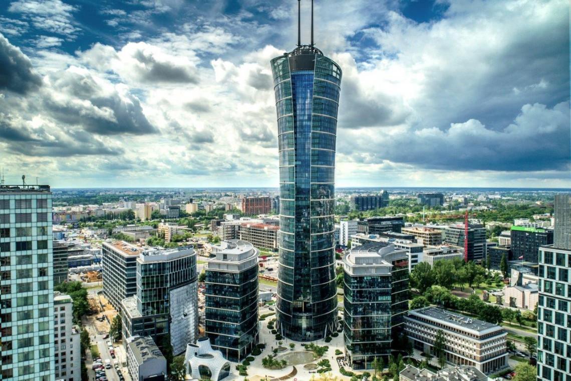 Warsaw Spire w żyletkach