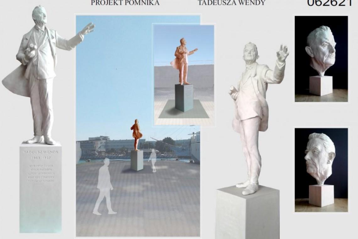 Gotowy projekt pomnika Tadeusza Wendy w Gdyni