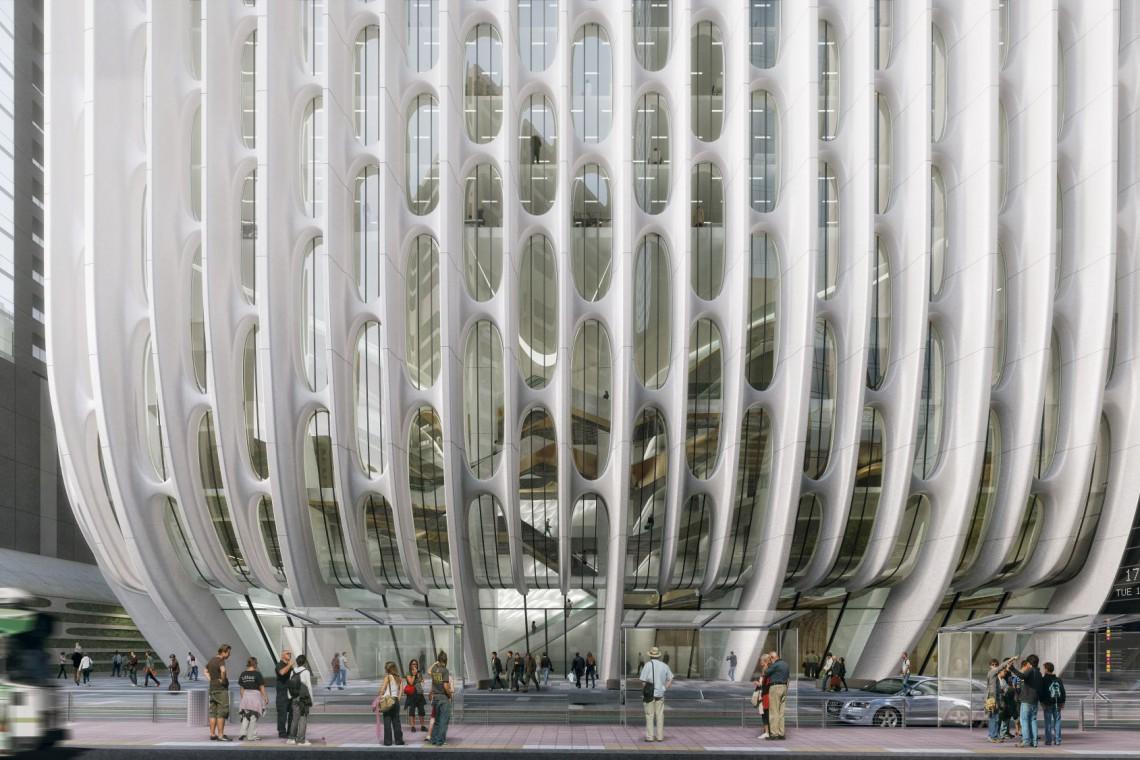 """Ażurowa """"koronka"""" będzie znakiem rozpoznawczym. Oto najnowszy hotel projektu Zaha Hadid Architects"""