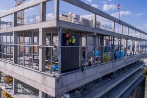 Najnowsze zdjęcia z budowy .KTW I w Katowicach. To projekt Medusa Group