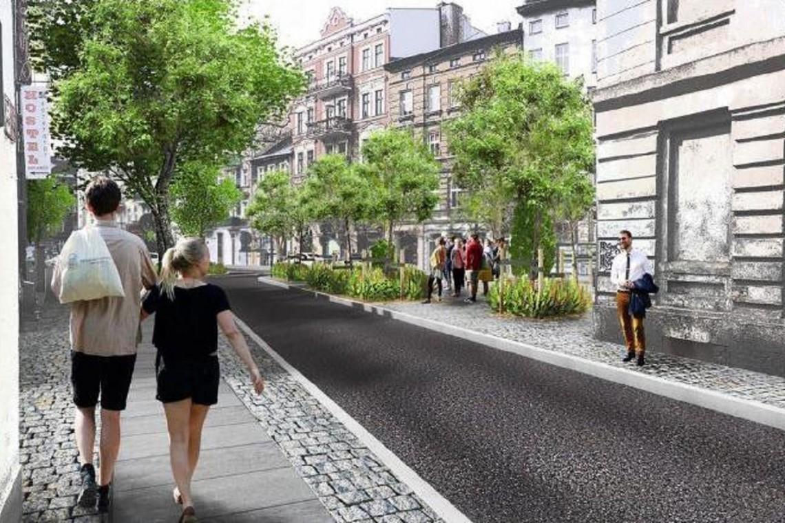Poznańska ulica utonie w zieleni