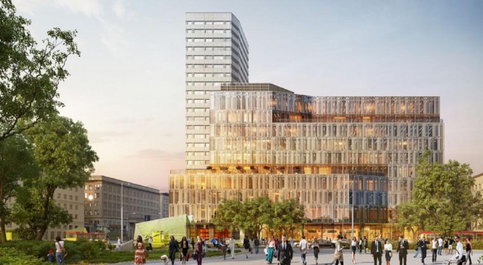 Centrum Marszałkowska rośnie w siłę. Dzieło Juvenes-Projekt już z wiechą