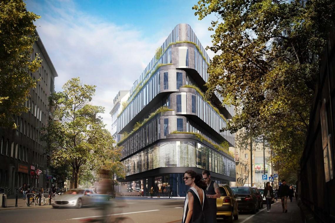 Oto Hotel The Bridge - nowoczesny sąsiad Hali Koszyki szkicu Medusa Group