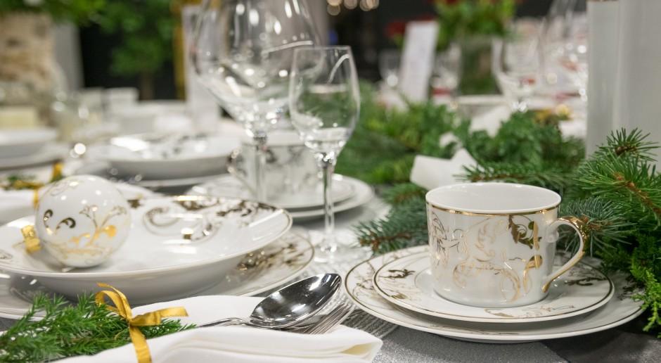 Świąteczne dekoracje stołu z polską porcelaną