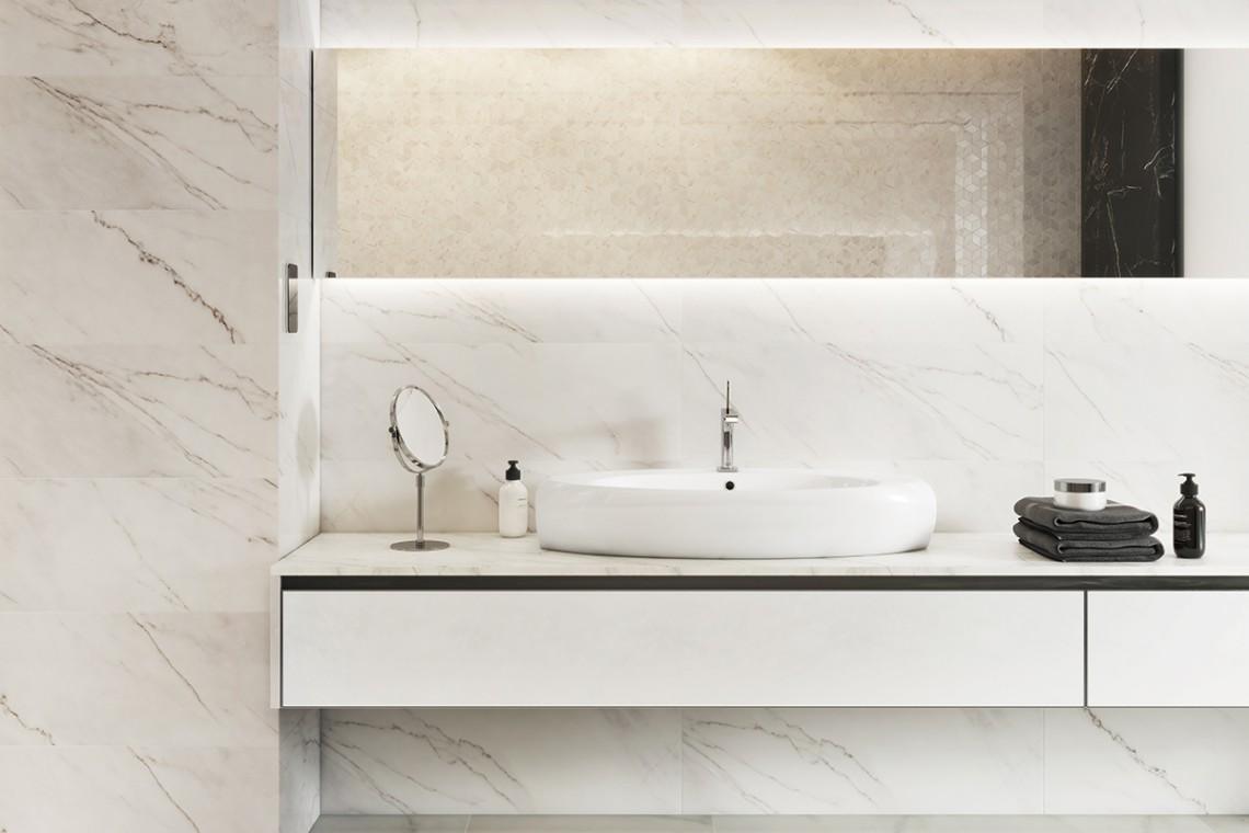 Niezrównany Marmur Również Dla Biurowych łazienek Design