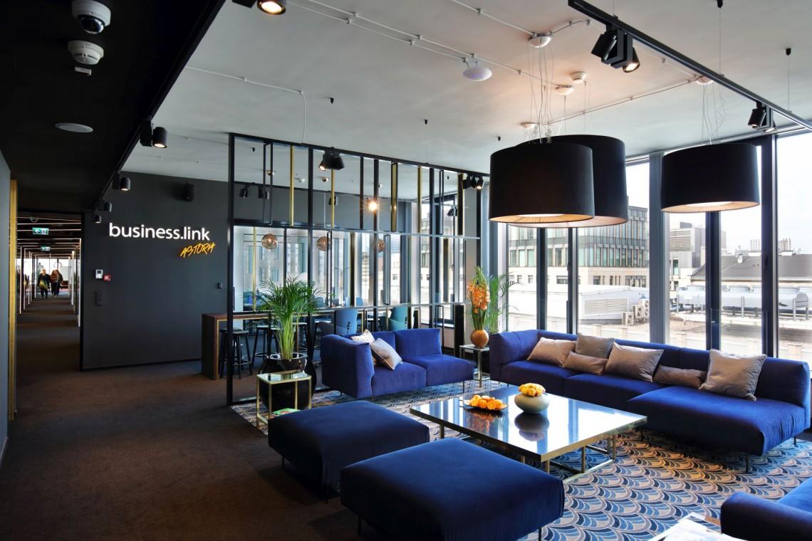 Design coworku jak elitarne lobby hotelowe. Czy Business Link Astoria wygra w konkursie Prime Property Prize?