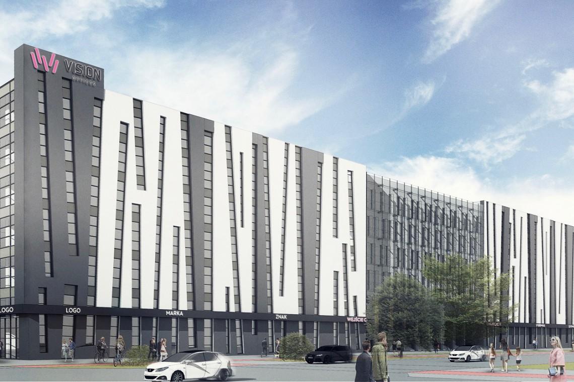"""Vision Offices - budynek z """"krzywymi oknami"""" - zmieni się"""