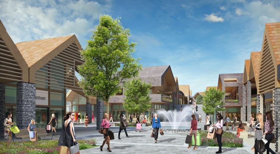 Nowe centrum outlet Neinver w stylu alpejskiej wioski
