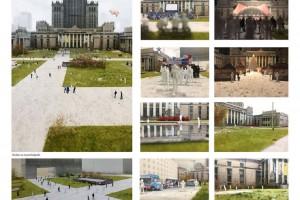 Przeszłość, monumentalizm, woda i zieleń. Koncepcje placu Centralnego rozliczają się z historią