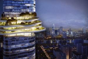 Natura wkracza na szczyty miasta. Oto niezwykły projekt Ole Scheerena w Wietnamie