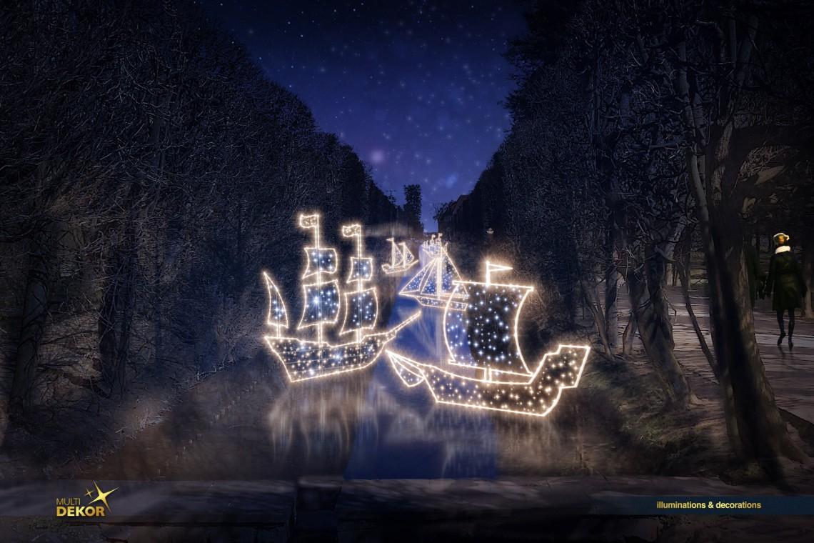 Morze Światła w Parku Oliwskim