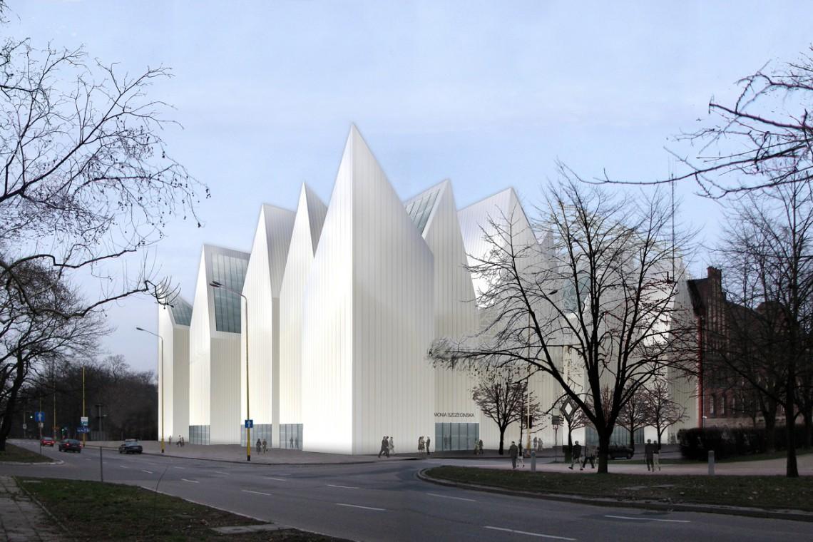 Muzyczna iluminacja na fasadach Filharmonii Szczecińskiej