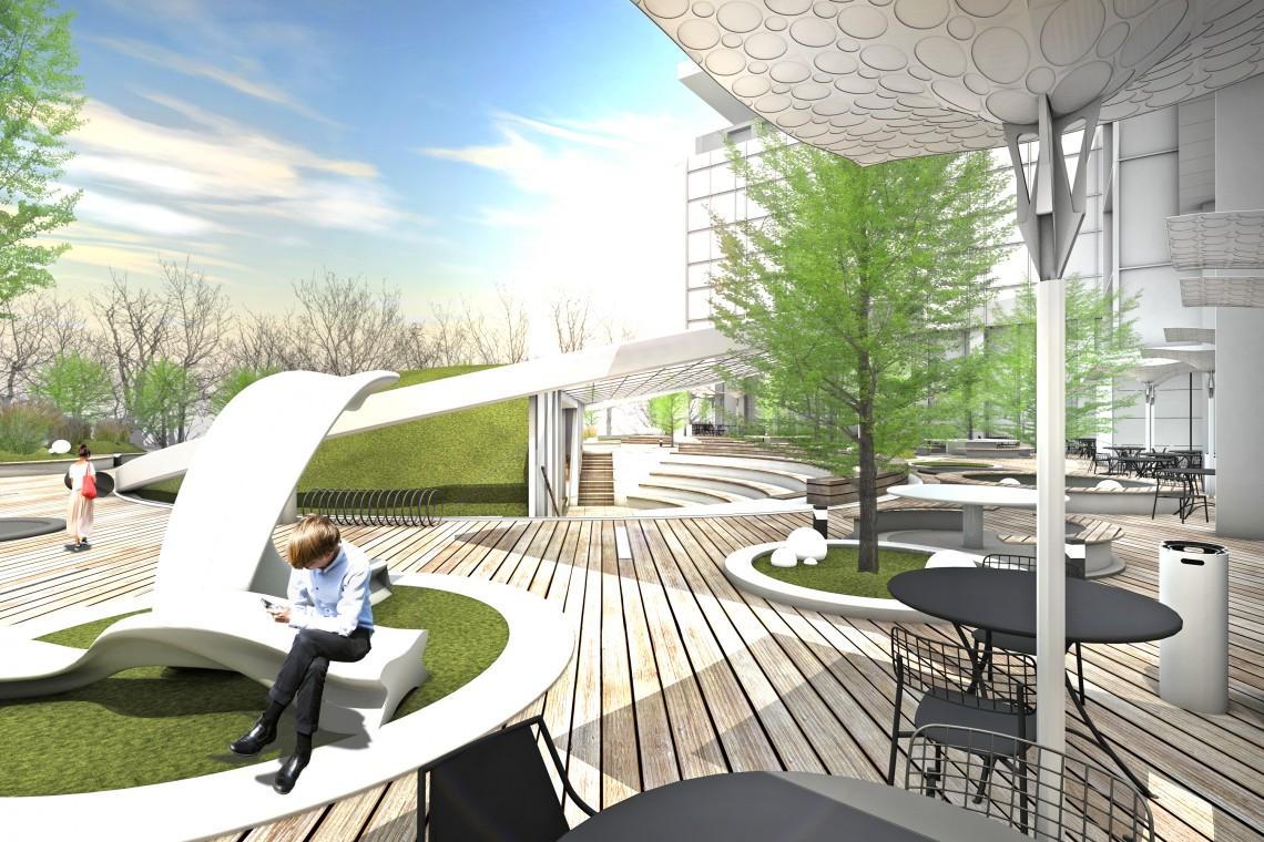 Na Biznesowym Mokotowie powstanie... amfiteatr. To projekt studia Mode:lina